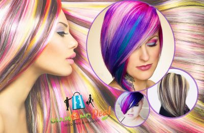 Újdonság Pinwheel! Melír 3 hagyományos vagy extrém színben, mosással, hajvégvágással, szárítással