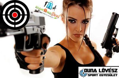 Élménylövészet 9mm-es pisztolyokkal! 80 lövés a filmekből jól ismert, nagy kaliberű pisztolyokkal!