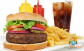 Fincsi Giga hamburger menü! Óriás zsemlében házi húspogácsával, sült krumplival, üdítővel!