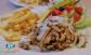 Extra húsos Gyros tál, mindenféle finomsággal és salátával a belvárosi Fincsi Büfében!