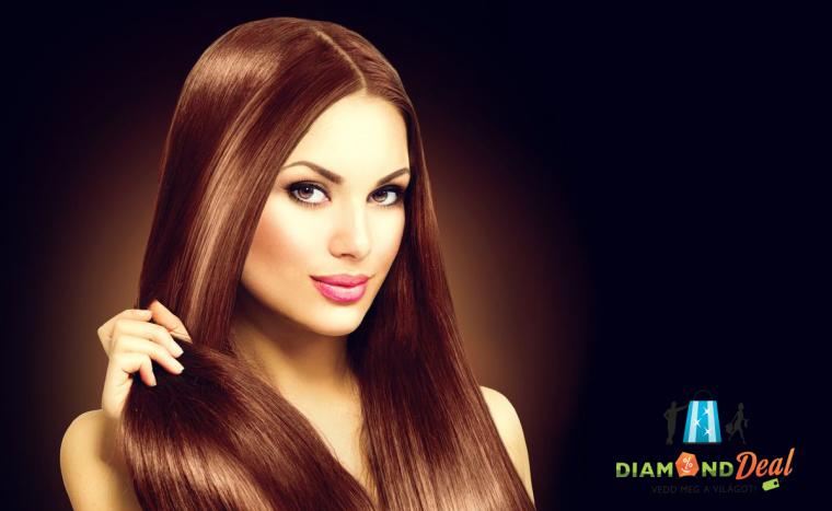 Női hajvágás, keratinos hajszerkezet újjáépítéssel, meleg búrás kezeléssel a Full Diamondban!