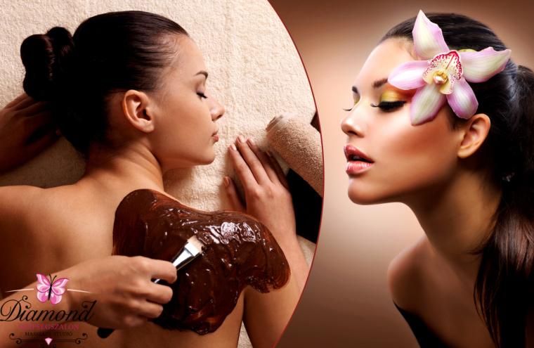 3 alkalmas 90 perces egész testes csokimasszázs + 20 perc Magicpolar-kezelés arcra, napközben!
