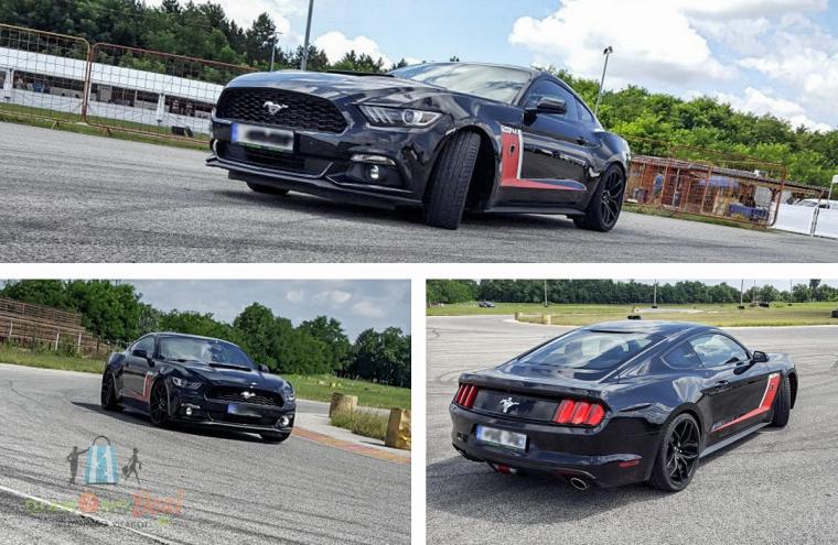 Ford Mustang élményvezetés 3, 5 vagy 10 körön át, vezesd az amerikai álomautót!