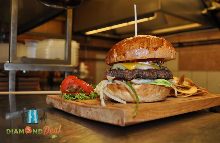 Kézműves hamburger menü 2 fő részére házi limonádéval a Kantin Steak & Burgerben!