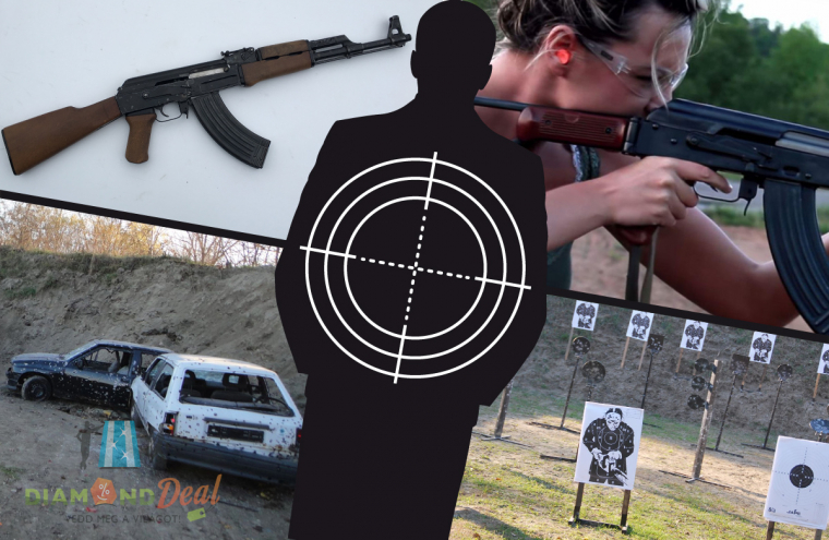 Stresszoldó élménylövészet! 30 lövés AK47 Kalasnyikovval és 10 lövés Dragunov mesterlövész puskával!