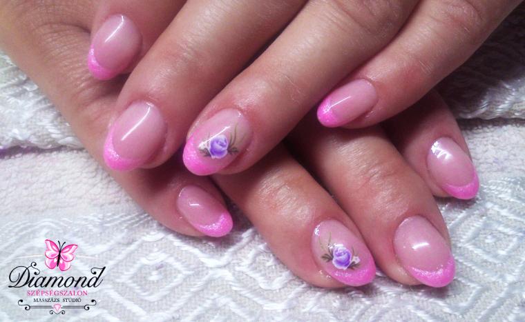 Csodás körmök kezeidre gél lakkozással, luxus alapanyagokkal, színes vagy francia változatban!