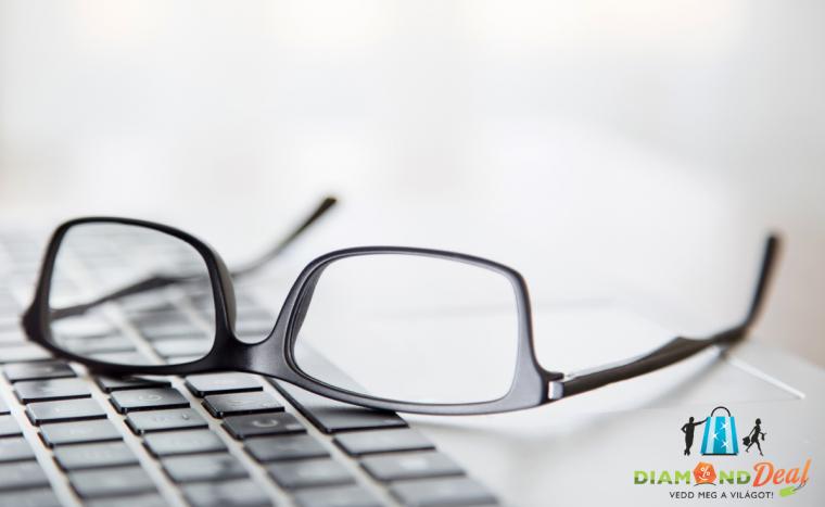 Multifokális szemüveg készítése divatos kerettel, lencsével, látásvizsgálattal +ajándék tok és kendő