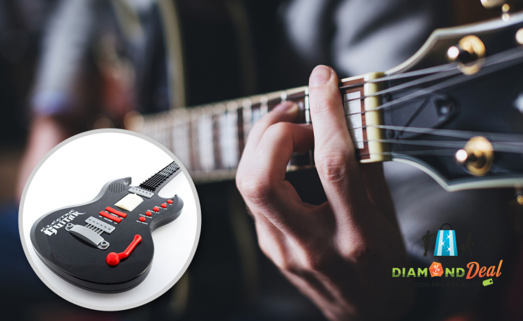 a8bb4b03f304 Elektromos játék gitár hanggal és fényjelzésekkel - legyen a gyermeked a  következő Jimi Hendrix!