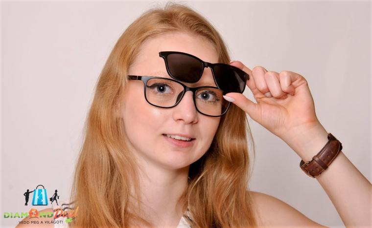 Clip-on keretes napszemüveg készítés szemvizsgálattal e3cc4acb58