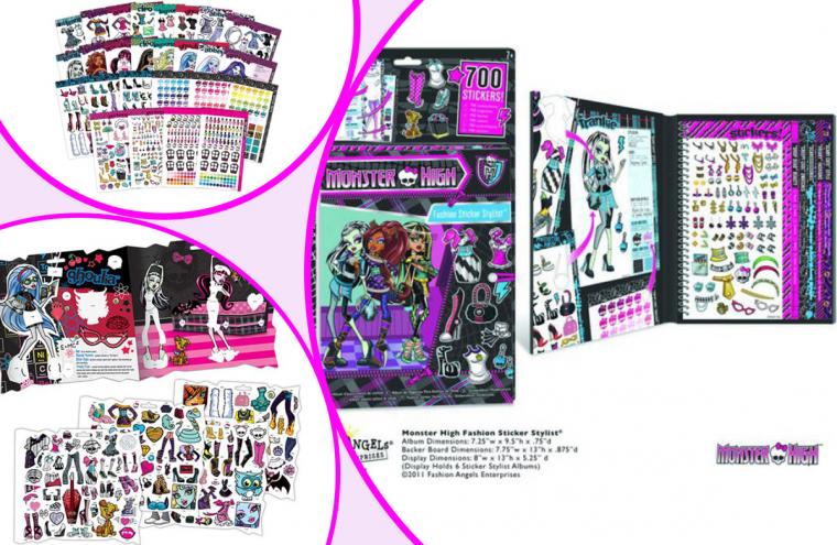 d866e0e8262e Monster High-Nagy matrica album, 700 db matricával