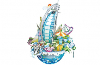 3D puzzle Dubai persely