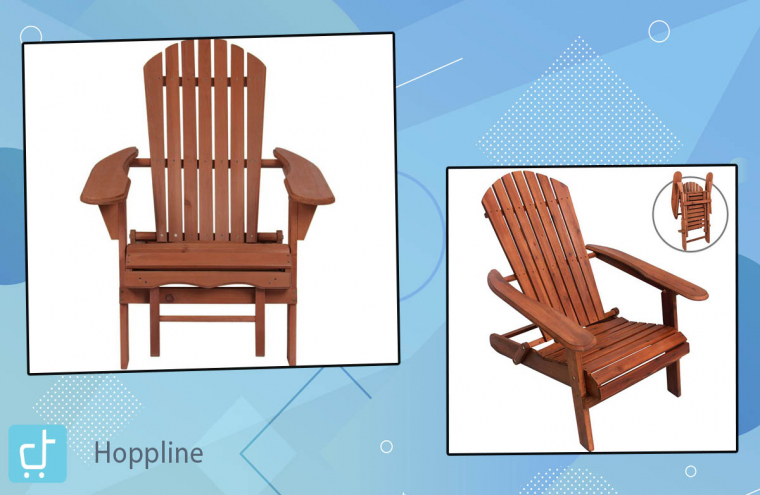 Fa, összecsukható kerti szék